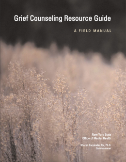 Grief Counseling Resource Guide