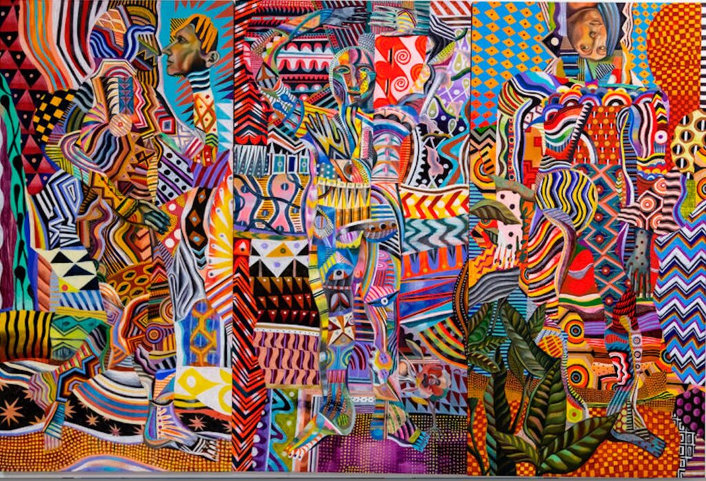 Brightly colored artwork